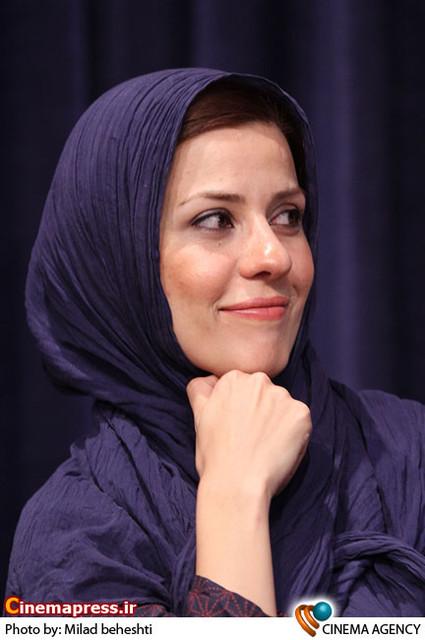 سارا بهرامی در نشست سریال «پروانه» به کارگردانی جلیل سامان در فرهنگسرای فردوس
