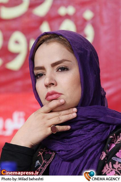 سپیده خداوردی در نشست سریال «پروانه» به کارگردانی جلیل سامان در فرهنگسرای فردوس